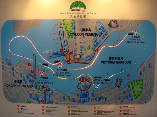 Star Ferry Harbour Tour Route
